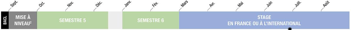 calendrier du bachelor - année 3 - BACL