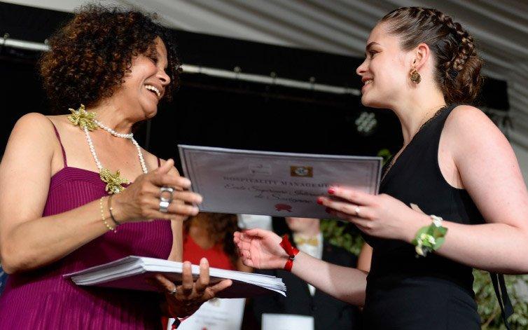 cérémonie de remise des diplômes à l'Ecole de Savignac