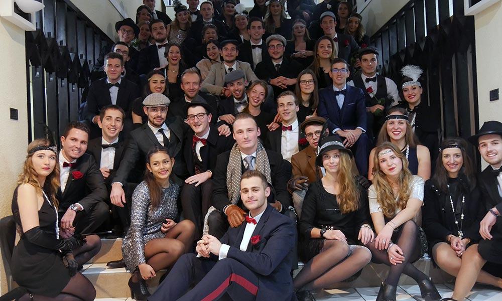 vie étudiante à Savignac - soirée de Noël