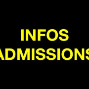 Infos Admissions